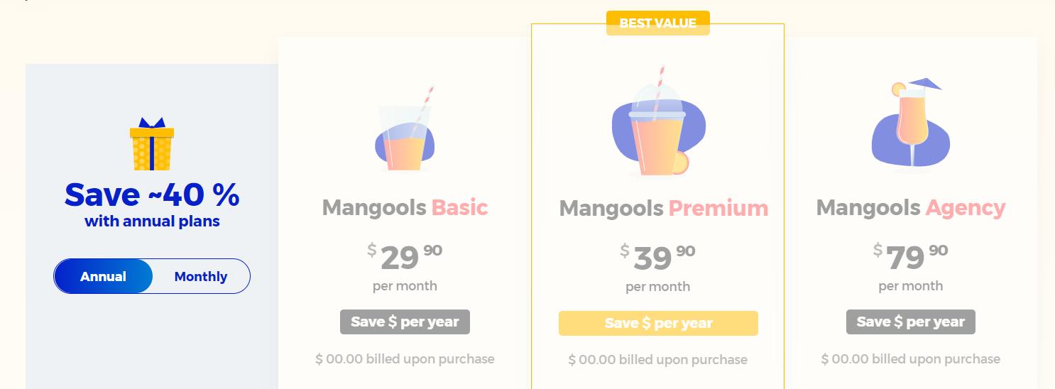 KWFinder Mangools prijzen